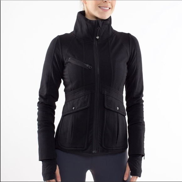 Lululemon It's Happening Moto Jacket Black Fleece